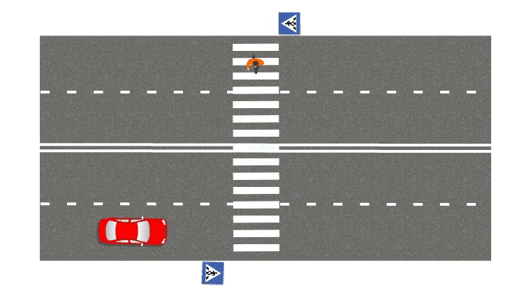 Если проедете, не создав помех пешеходу