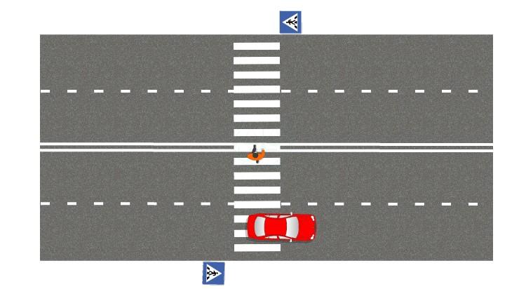 Если проедете до того, как пешеход закончит переход, но пропустите его